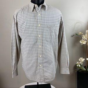 EDDIE BAUER Long Sleeve Shirt Blue Button Down